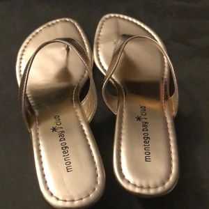 Montego Bay Club Wedge Sandals Size 7
